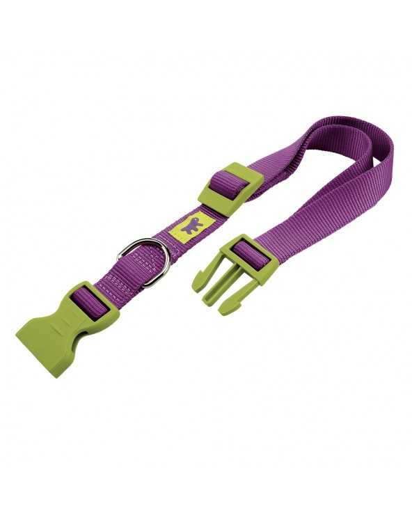 Ferplast Club Collare In Nylon Con Clip Viola e Verde