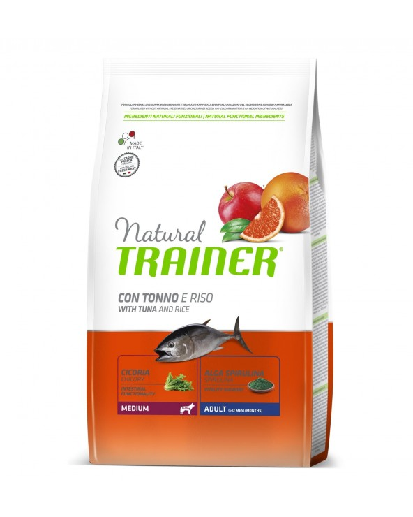 Natural Trainer Adult Medium con Tonno e Riso 12kg