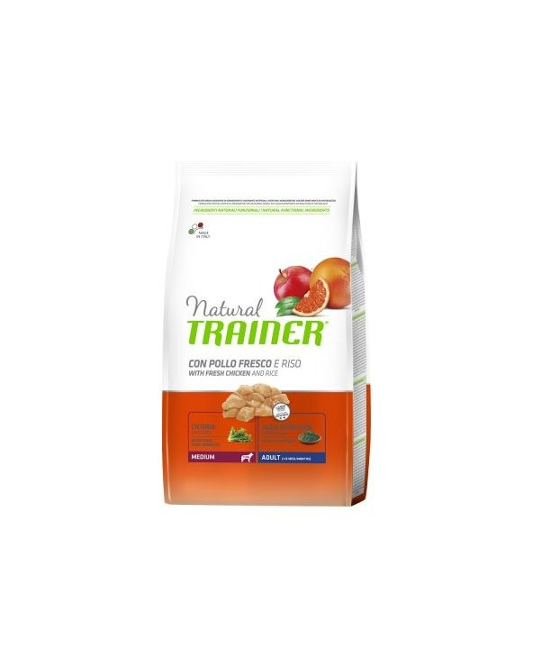 Natural Trainer Adult Medium con Pollo Fresco e Riso 3 kg