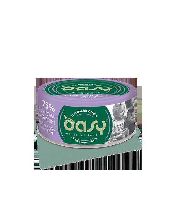 Oasy Gatto More Love - Pollo Con Uova Per Gattini