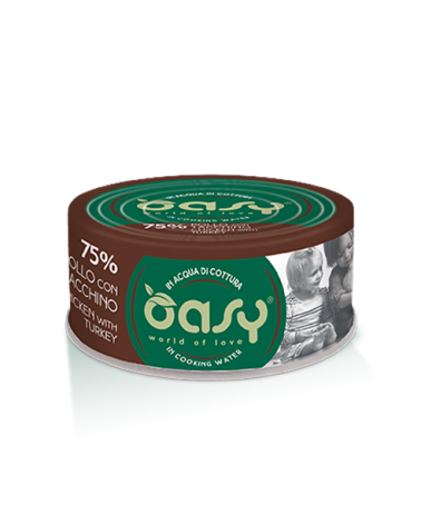 Oasy Cat More Love Pollo Con Tacchino Lattina 70 g