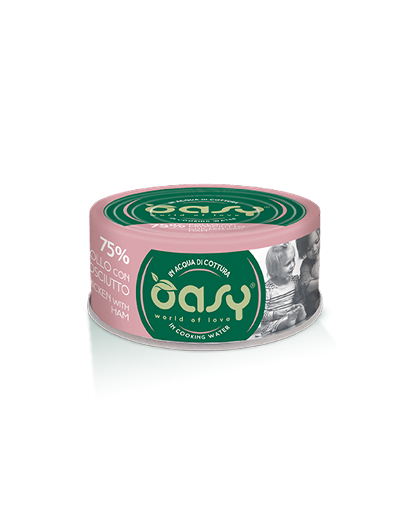 Oasy Cat More Love Pollo Con Prosciutto Lattina 70 g