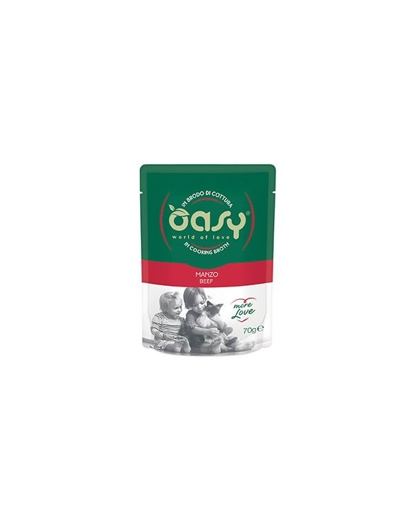 Oasy Cat More Love Manzo Busta 70 g