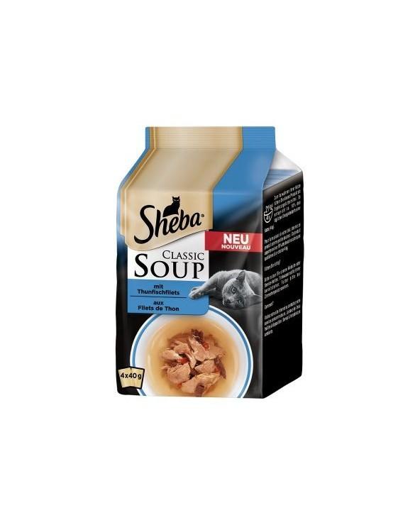 Sheba Soup Multipack Tonno 4x40 g