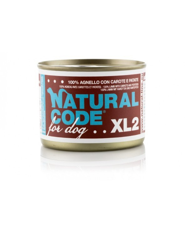 Natural Code Dog XL 02 Agnello con Carote e Patate 180g