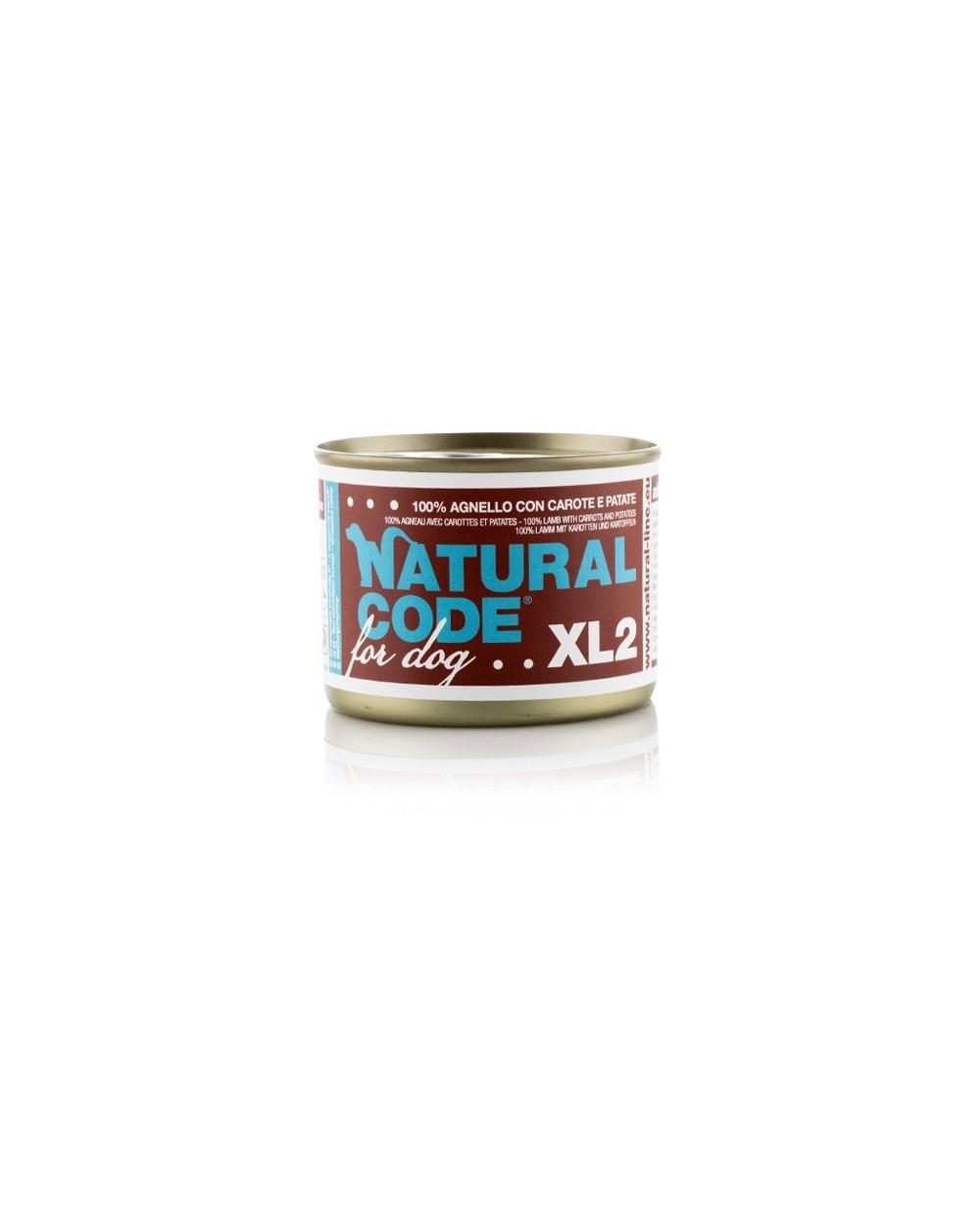 Natural Code Cane XL 185g 02 Agnello con Carote