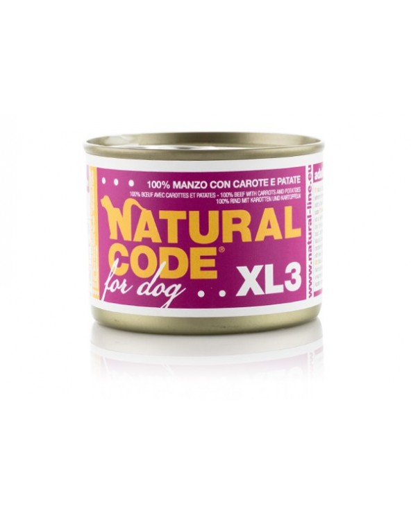Natural Code Dog XL 03 Manzo con Carote e Patate 180g