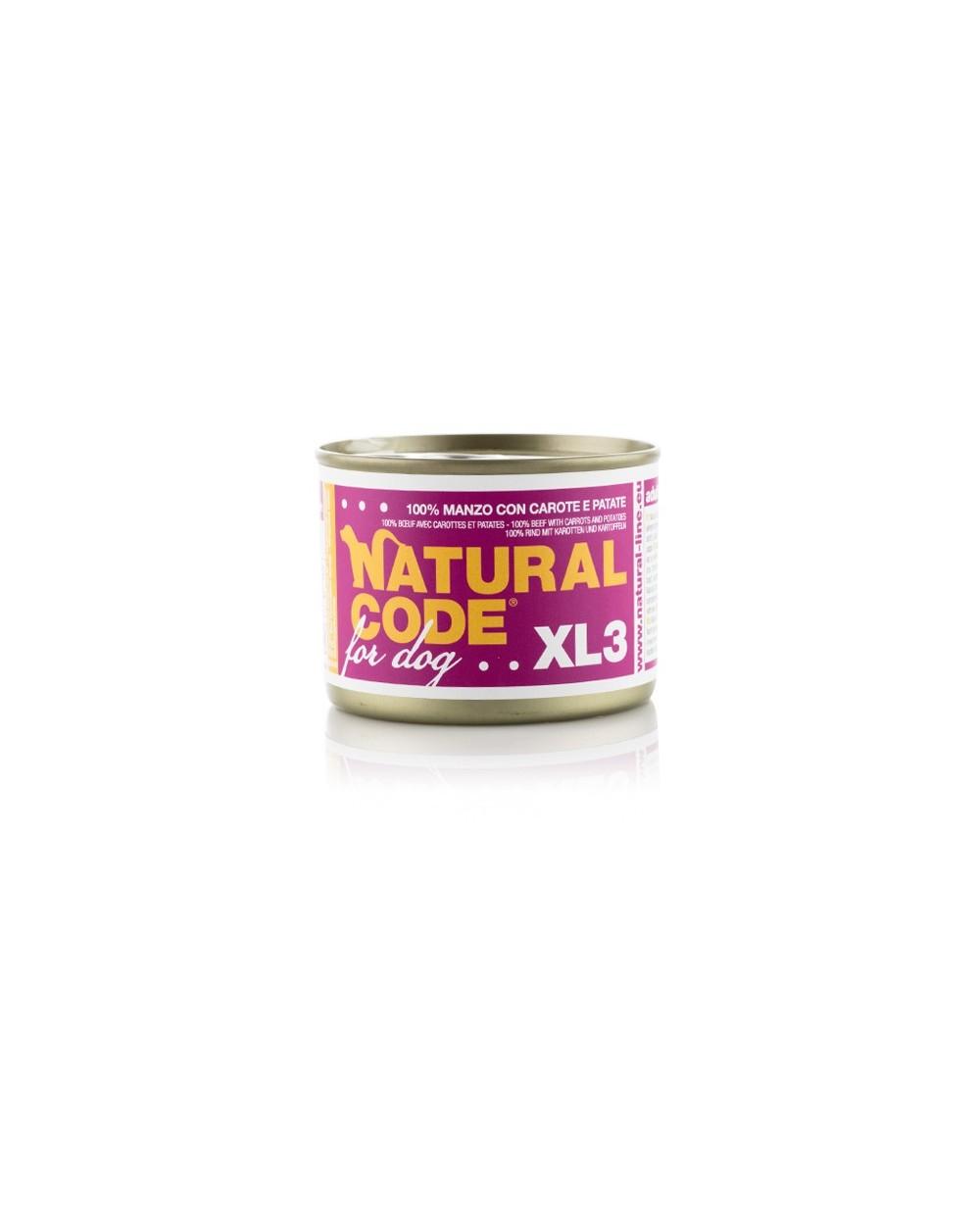 Natural Code Cane XL 185g 03 Manzo con Carote e Patate
