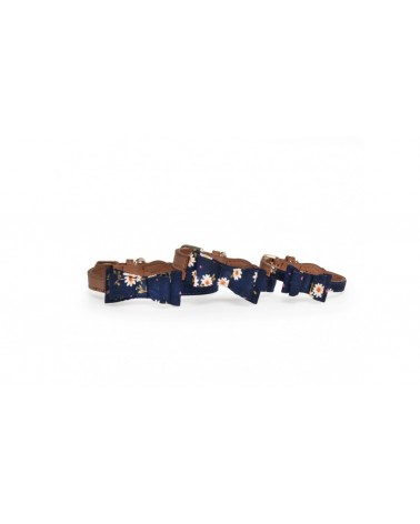Camon Collare In Tessuto Motivo Floreale Blu
