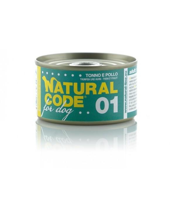 Natural Code Dog 01 Tonno e Pollo 95g