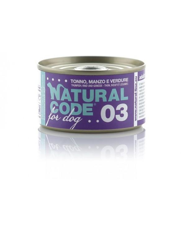 Natural Code Dog 03 Tonno Manzo e Verdure 95g