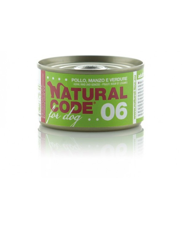 Natural Code Dog 06 Pollo Manzo e Verdure 95g