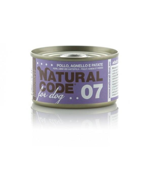 Natural Code Dog 07 Pollo Agnello e Verdure 95g
