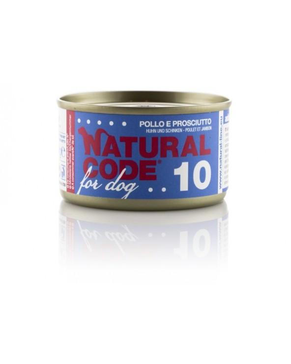 Natural Code Dog 10 Pollo e Prosciutto 95g