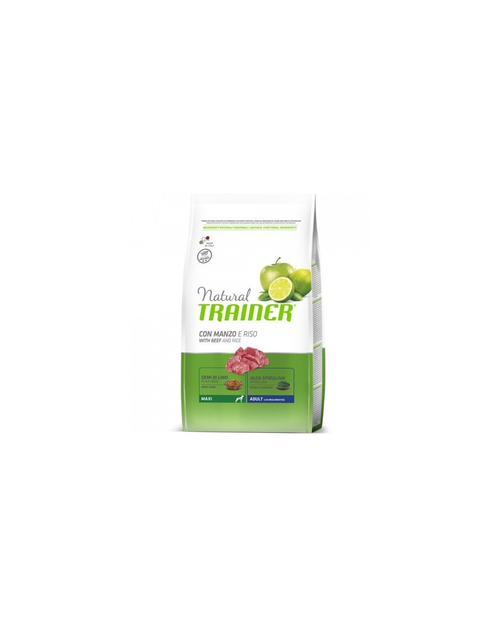 Natural Trainer Adult Maxi con Manzo, Riso e Gingeng