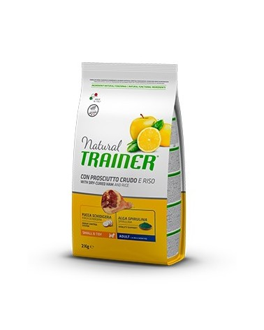 Natural Trainer Adult Mini con Prosciutto Crudo, Riso e Pappa Reale 2kg