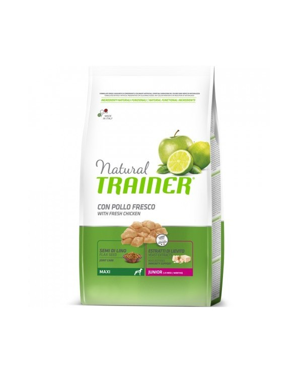 Natural Trainer Junior Maxi con Pollo Fresco 12 kg
