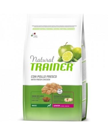 Natural Trainer Junior Maxi con Pollo Fresco 12 kg