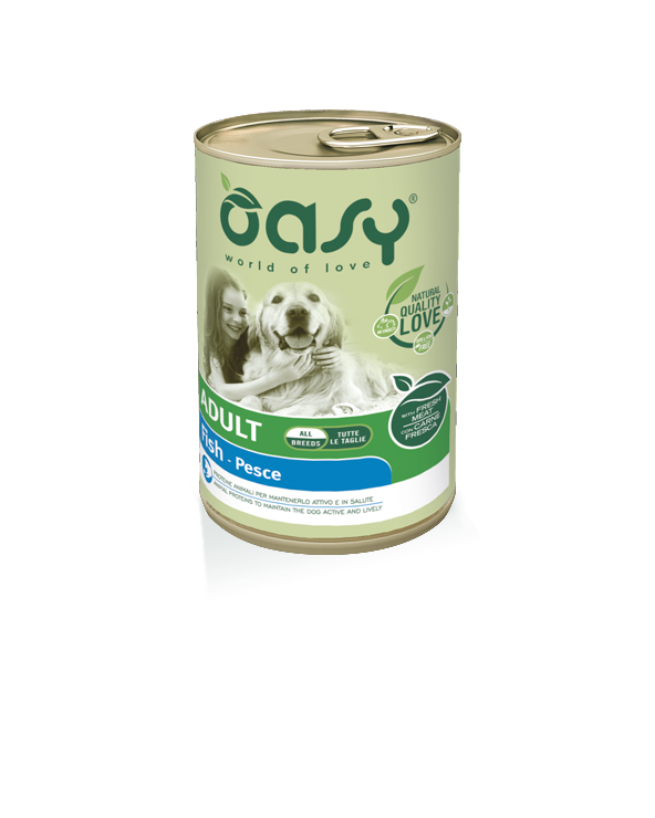 Oasy Dog Lifestages Adult Con Pesce Lattina in Patè 400 g