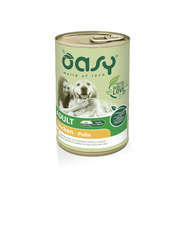 Oasy Dog Lifestages Adult Con Pollo Lattina in Patè 400 g