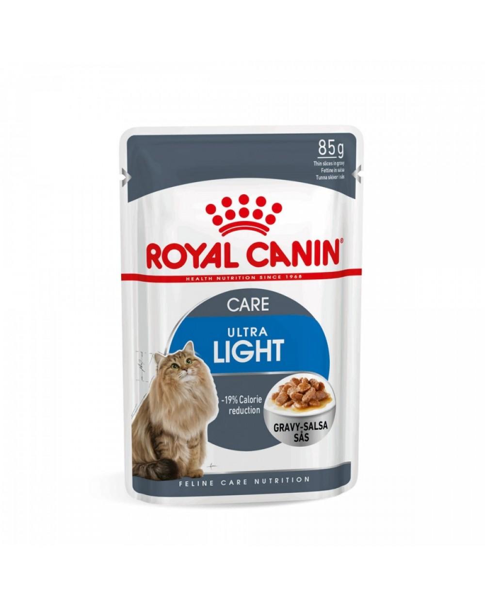Royal Canin Feline Health Nutrition Wet - Ultra Light in salsa