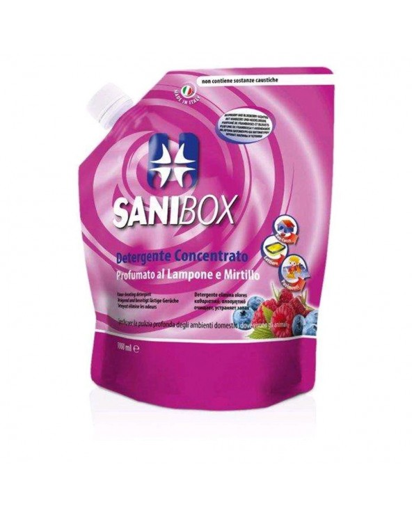 Sanibox Detergente Lampone E Mirtillo 1 Lt