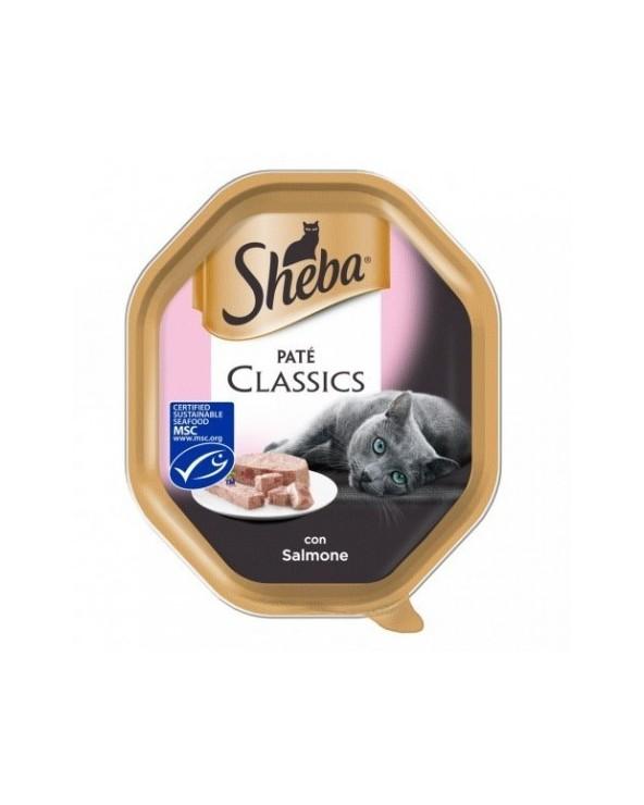 Sheba Patè Classic con Salmone Vaschetta 85 g