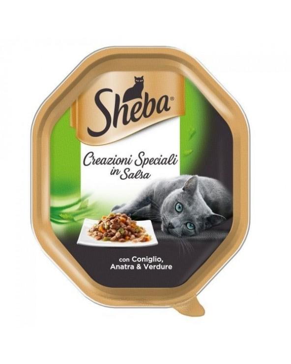 Sheba Creazioni Speciali in Salsa con Coniglio, Anatra e Verdure