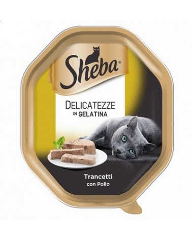 Sheba Delicatezze in Gelatina Trancetti con Pollo Vaschetta 85g