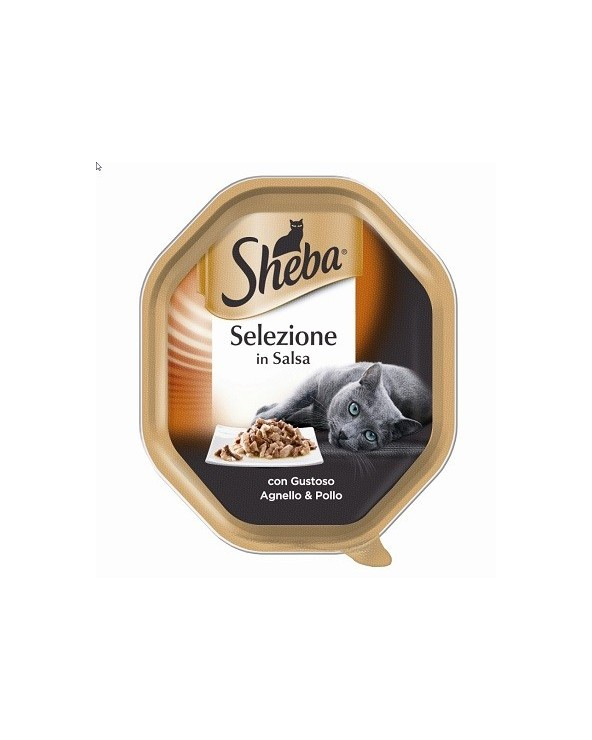 Sheba Selezione in Salsa con Agnello e Pollo Vaschetta 85 g