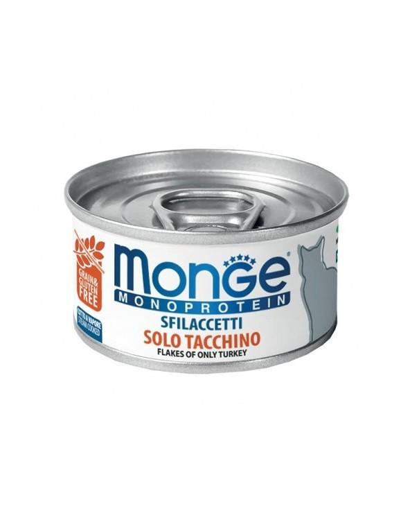 Monge Cat Sfilaccetti Monoprotein SOLO Tacchino 80g