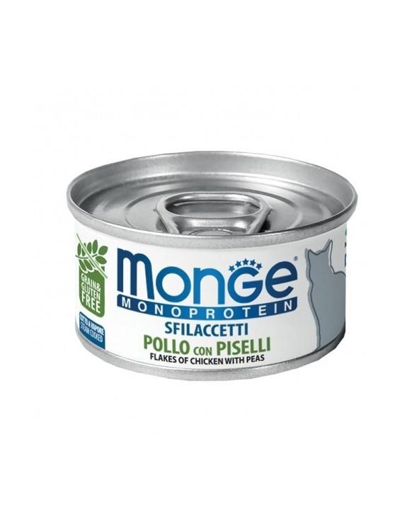 Monge Cat Sfilaccetti Monoprotein SOLO Pollo con Piselli 80 g