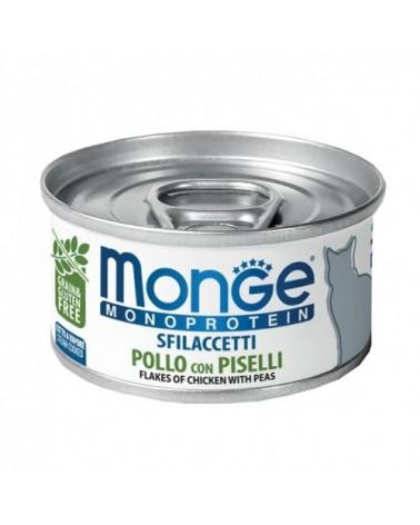 Monge Cat Sfilaccetti Monoprotein SOLO Pollo con Piselli