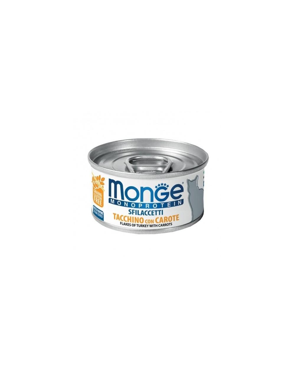 Monge Cat Sfilaccetti Monoprotein SOLO Tacchino con Carote