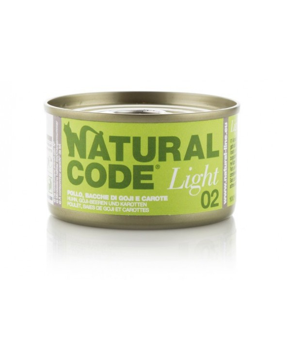 Natural Code Cat Light 02 Pollo Bacche di Goji e Carote 85g