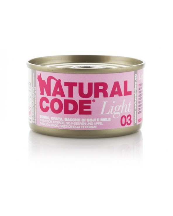 Natural Code Cat Light 03 Tonno Orata Bacche di Goji e Mele 85 g