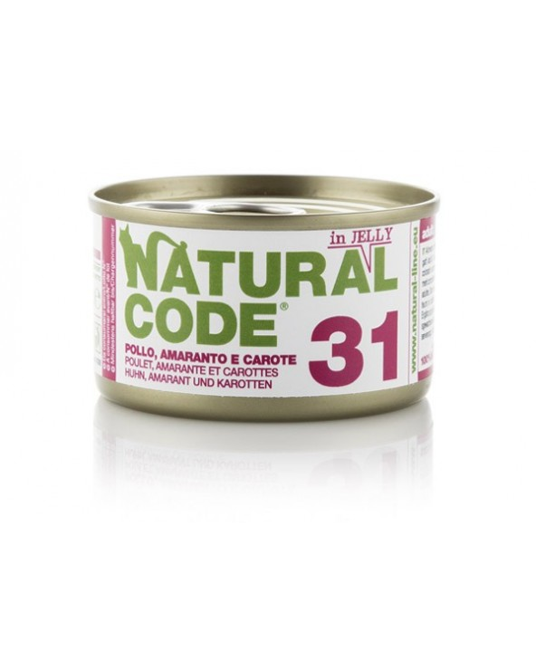 Natural Code Adult Cat 31 Pollo Amaranto e Carote
