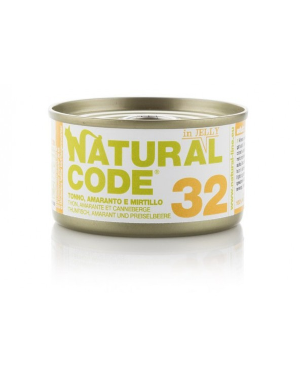 Natural Code Adult Cat 32 Tonno Amaranto e Mirtillo
