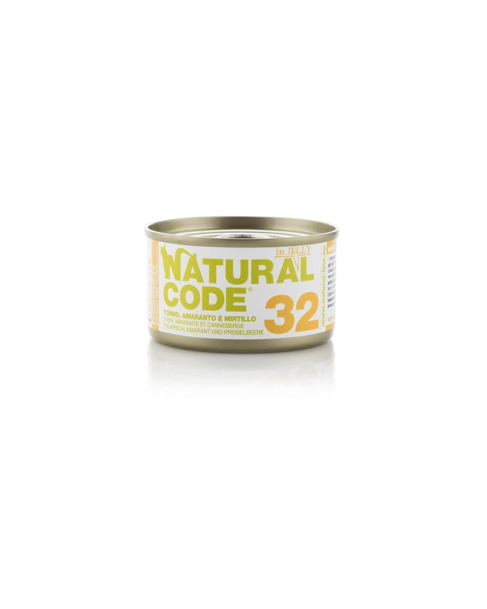 Natural Code Adult Cat 32 Tonno Amaranto e Mirtillo