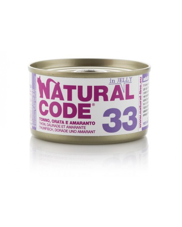 Natural Code Adult Cat 33 Tonno Orata e Amaranto 85g