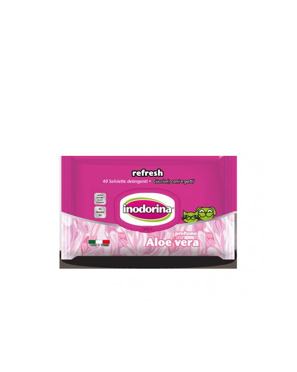 Inodorina Salviette Refresh Aloe Vera 40 o 100 pz