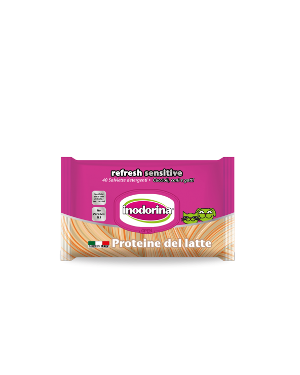 Inodorina Salviette Refresh Sensitive Proteine del Latte 40 pz