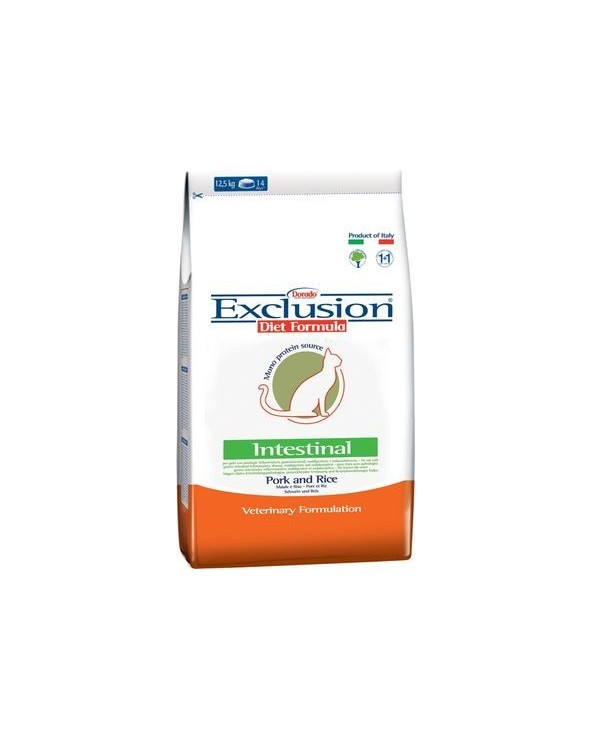 Exclusion Cat Diet Formula Intestinal Maiale e Riso