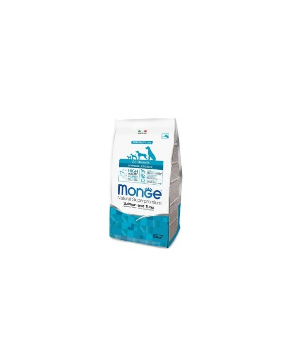 Monge Dog Natural All Breeds Hypoallergenic Salmone e Tonno 12 kg