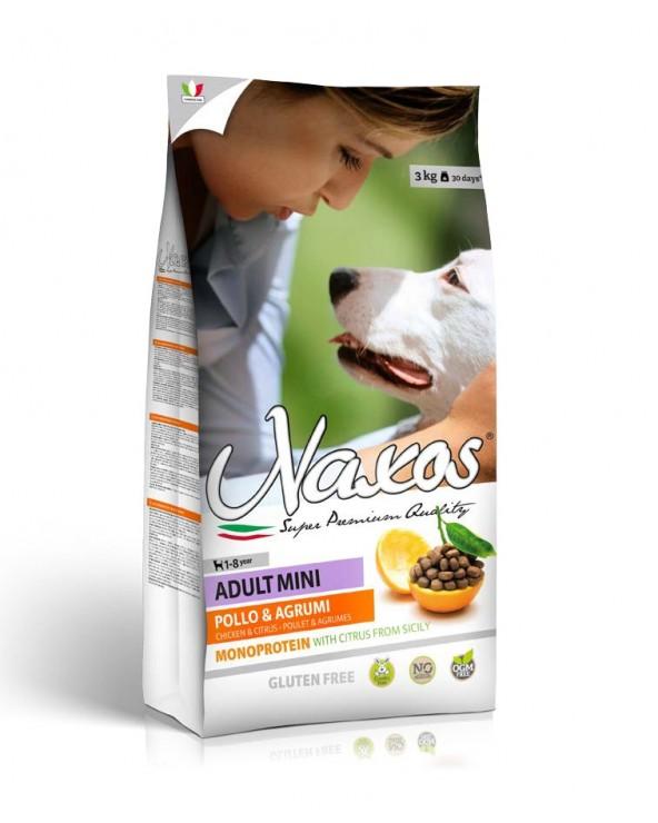 Naxos Dog NO GLUTEN Adult Mini Monoproteico Pollo e Agrumi di Sicilia 3 kg