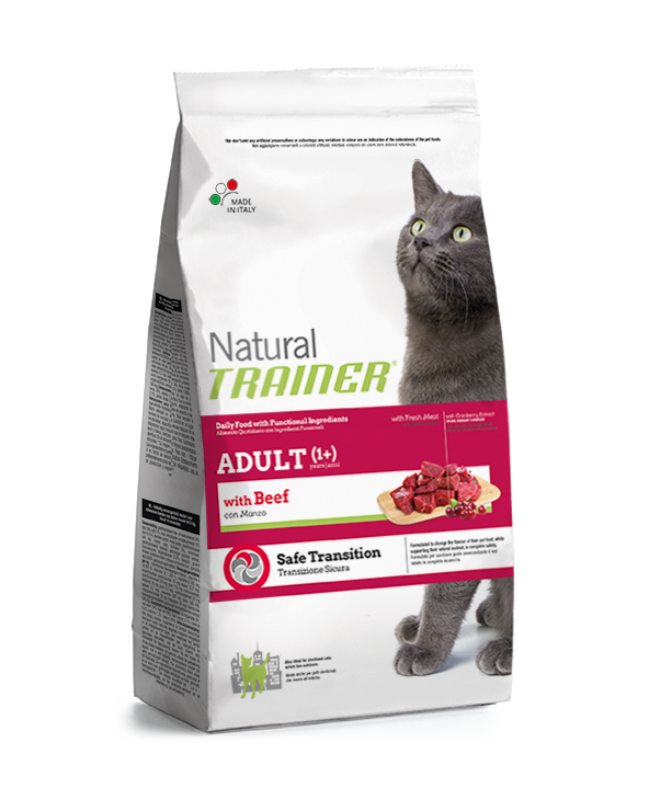 Natural Trainer Cat Adult con Manzo 3 kg