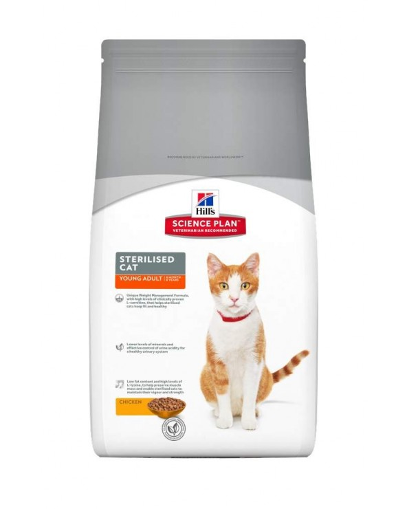 Hill's Feline Science Plan Young Adult Sterilised con Pollo 1.5 kg