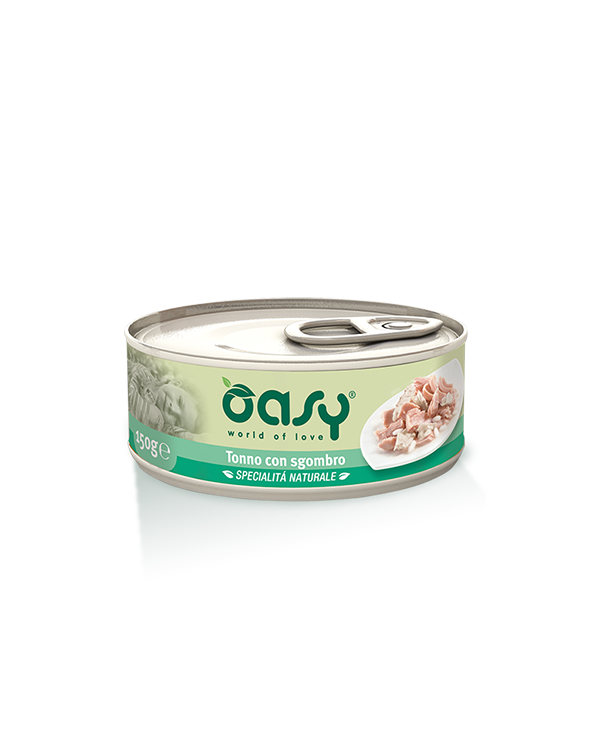 Oasy Cat Specialità Naturali Tonno con Sgombro Lattina 150 g