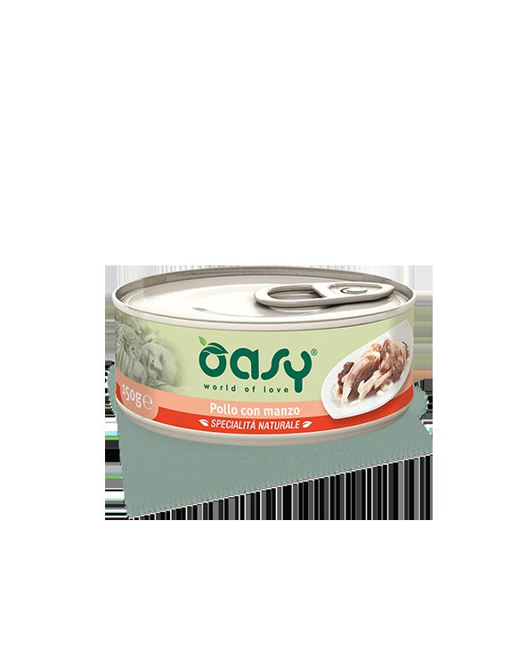 Oasy Cat Specialità Naturali Pollo con Manzo Lattina 150 g
