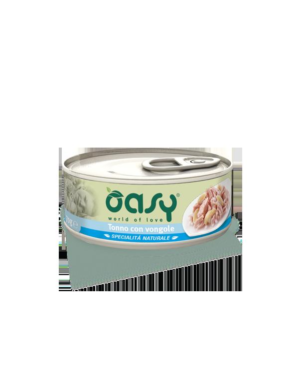 Oasy Cat Specialità Naturali Tonno con Vongole Lattina 150 g
